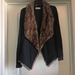 Hollister fur lined jacket